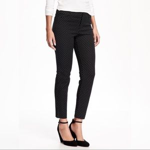 LOFT Marisa Skinny Ankle Pants in Polka Dot